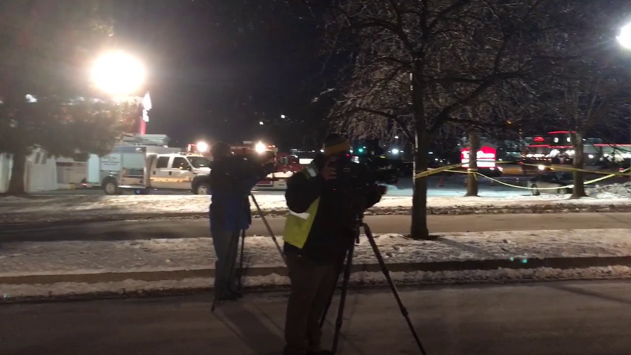 Scene of shooting of Saginaw Township officer