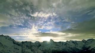 Невероятный закат в горах Домбая Кавказ 4K