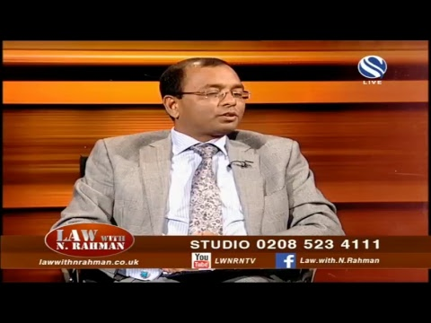 Law With N Rahman Live Stream  20 October 2018 at Channel S SKY 734