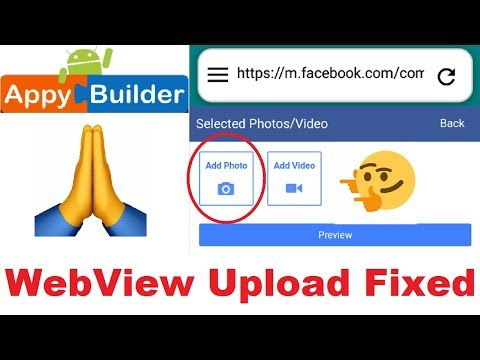 WebView Upload Fixed | AIA File | Thunkable | Appybuilder
