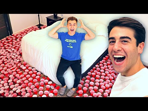 EPIC CUP PRANK ON BROTHER!! (10,000 CUPS)