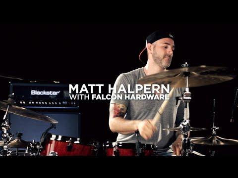Matt Halpern with Mapex Falcon Hardware