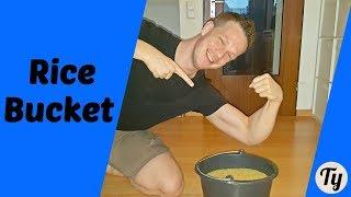 Rice Bucket Challenge! - Grip Strength - FOLLOW ALONG