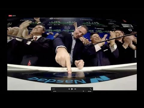 eXp Ringing the bell at NASDAQ