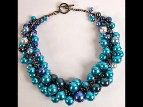 fbc1b0c34ec0 Manualidad  Collar en Perlas Azules - Hogar Tv por Juan Gonzalo Angel