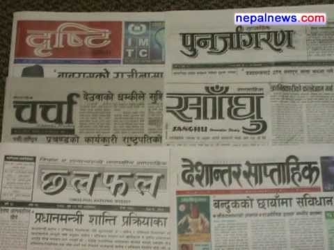 January 08-10 2012 headlines in Nepali weeklies