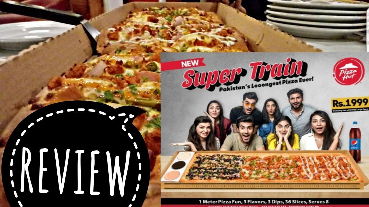 Tasting The Super Train Pizza Of Pizza Hut Youtube