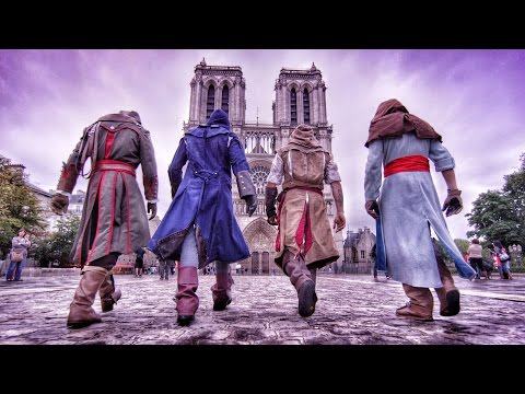 Assassins Creed Unity Meets Parkour in Real Life - 4K!