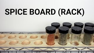 How To Make a Spice Board (Rack)