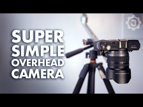 This DIY Overhead Camera Mount Is Cheap to Make and Won't Take Up a Ton of Space