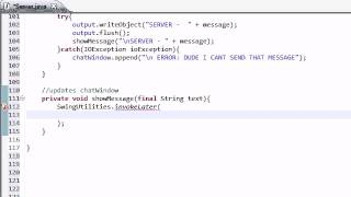 Intermediate Java Tutorial - 46 - Displaying Messages in the Chat Window