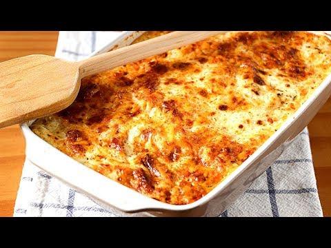 """Macarrones """"Perezosos"""" con queso y chorizo - Receta de macarrones al horno más fácil del mundo!"""