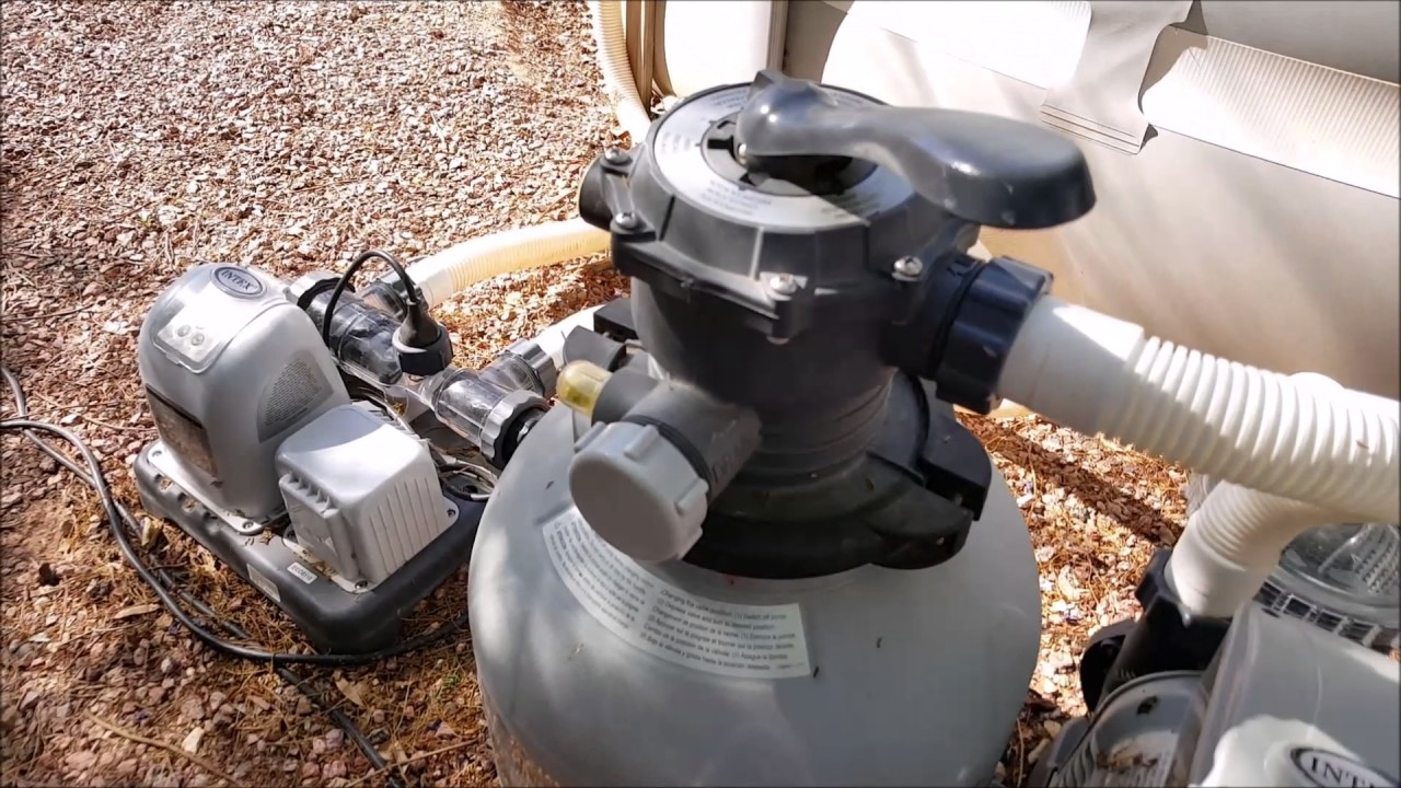 Intex Pool Pump Youtube Intex Pool Easy Upgrade Sand Filter Saltwater System