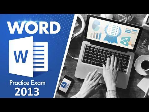Word 2013 Practice Test (MOS Exam)