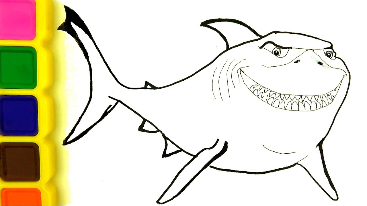 How to Draw Sharks 🦈 Coloring Pages - Drawing for Kids