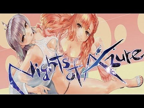 LET THE LESBIAN/YURI ADVENTURES BEGIN! | Nights Of Azure Part 1