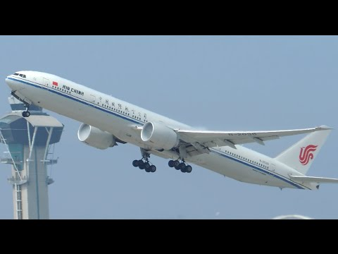 Air China Boeing 777-300ER [B-2038] takeoff from LAX