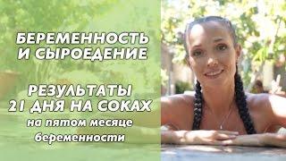 Сыроедение и беременность. Питание соками 21 день. Результаты Светланы Калмыковой.