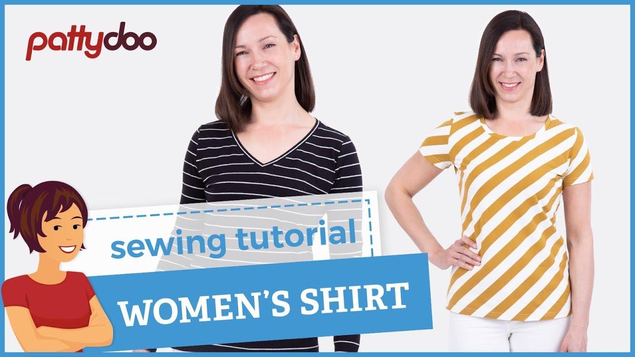 40d42b8192e392 How to Sew a T-Shirt for Women - A Step by Step Sewing Tutorial ...
