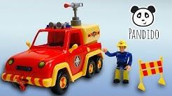 ⭕ Feuerwehrmann Sam Feuerwehrauto Venus  - Spielzeug ausgepackt und angespielt - Pandido TV