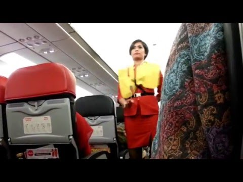 AirAsia Indonesia Safety Demo, Airbus A320-200