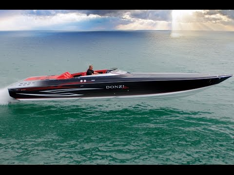 DONZI 43 ZR Power Boat - Ferrari Performance meets James Bond Style