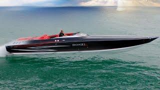 DONZI 43 ZR Power Boat - Ferrari Performance meets James Bond Style