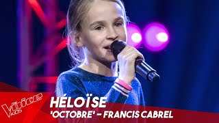 Héloïse - 'Octobre' | Blind Auditions | The Voice Kids Belgique