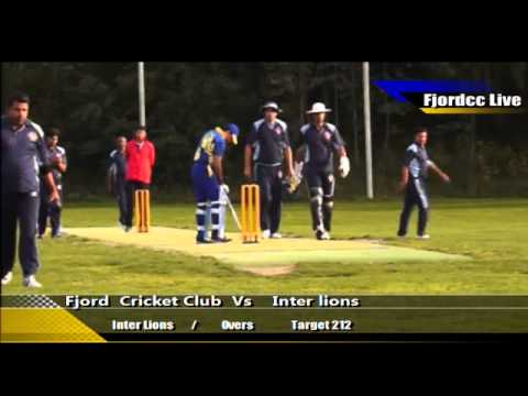 Fjord Cricket Club Vs InterLions 2013 Part 4