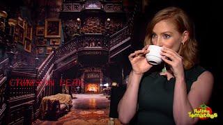 Crimson Peak Interview: Tom Hiddleston, Guillermo Del Toro,  Jessica Chastain, And Mia Wasikowska