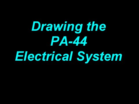 Drawing the PA-44 Electrical System