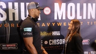 ANTHONY JOSHUA v KATIE TAYLOR HEAD TO HEAD @ FINAL PRESS CONFERENCE / JOSHUA v TAYLOR
