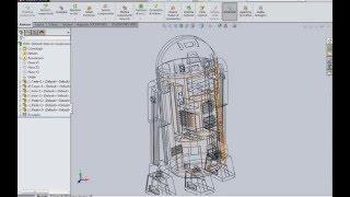 Solidworks üzerinde R2D2 ve BB-8 CAD