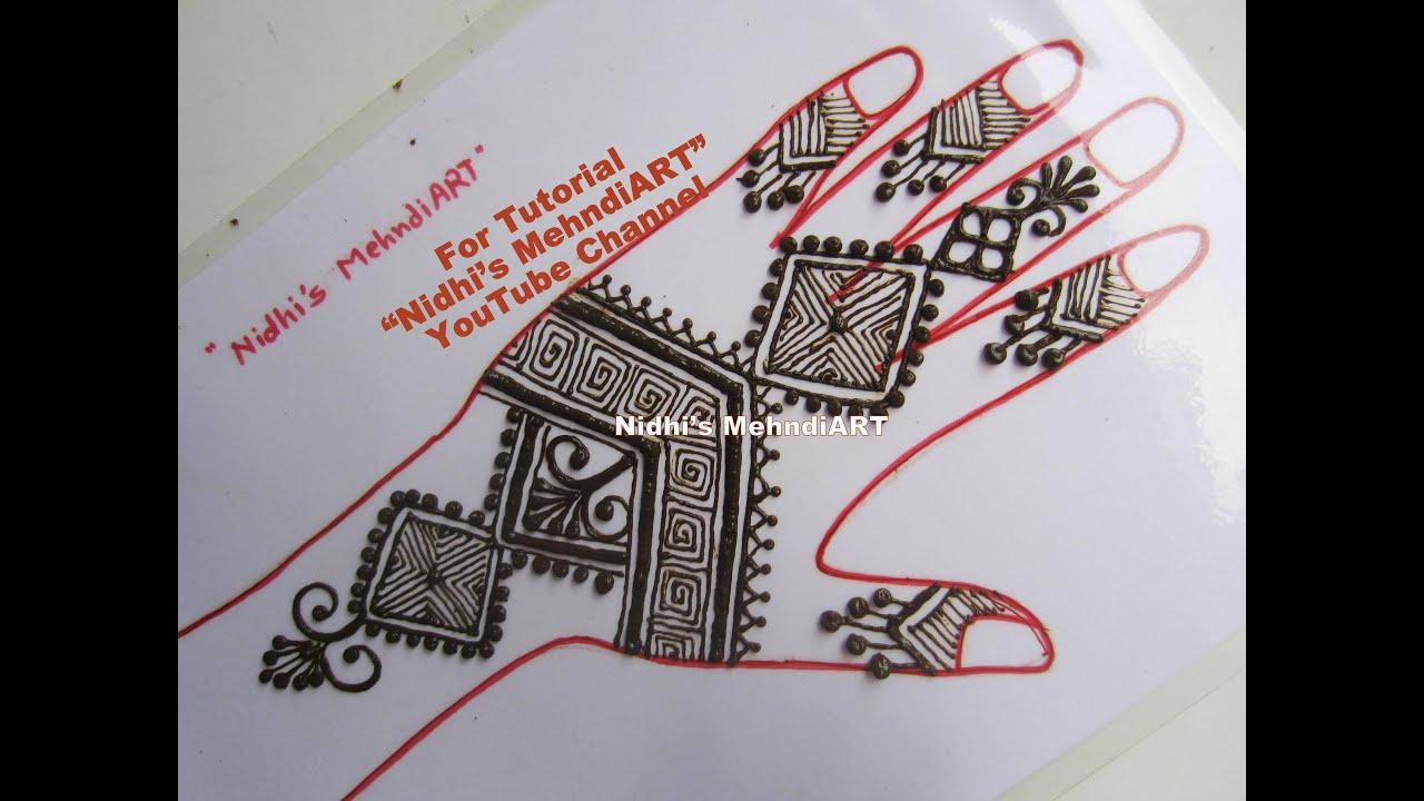 Moroccan Art Africcan Style Henna Mehndi Design Tutorial For Back