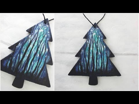 Handmade Holiday Ornament Series Day 2 - Winter Forest