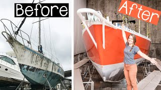 ⛵️Sailboat EXTREME makeover!! [after 22 years on the hard] (Part 3) #102