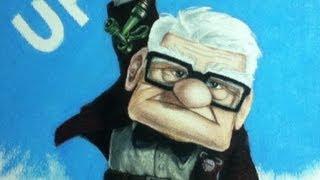 Carl Fredrickson  (UP - Altas Aventuras) - Desenho passo a passo