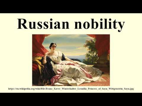 Russian nobility