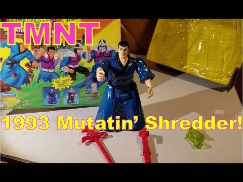 TMNT Mutatin' Shredder 1993 Complete In Box Teenage Mutant Ninja Turtles