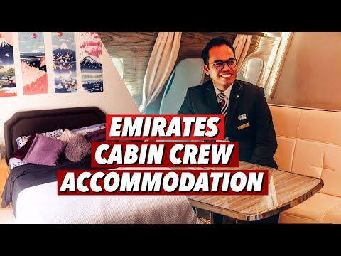 EMIRATES CABIN CREW ACCOMMODATION TOUR