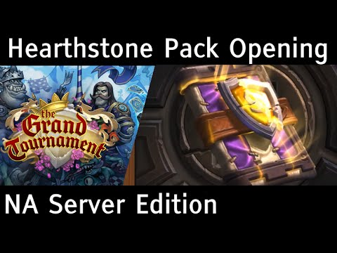 TGT New Cards! Pack Opening - NA Server - Hearthstone The Grand Tournament - 34 Packs