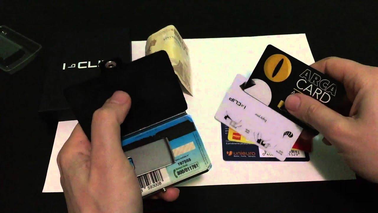 c8b1d3c9c9aedb I-CLIP portafoglio - porta carte di credito - porta banconote - YouTube