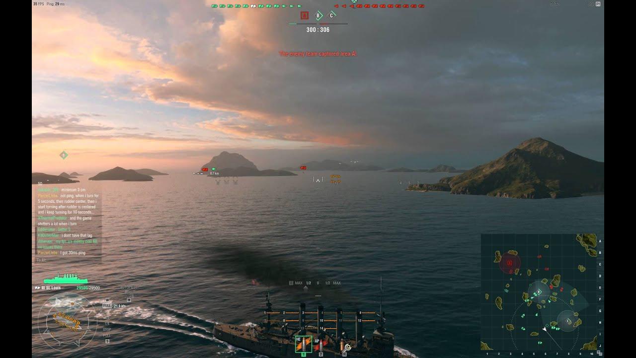 Warships lag