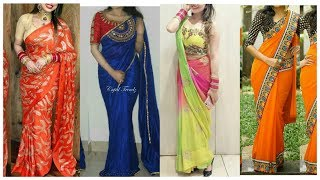 Latest Saree Designs Collaction for Carvachoat !! Ladies Sapical Carvachoat Lookbook 2018-19