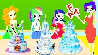 Equestria Girls And Best Friends  - The Funny Story Of Make Castle Cake Contest  | Zilo Funkiz