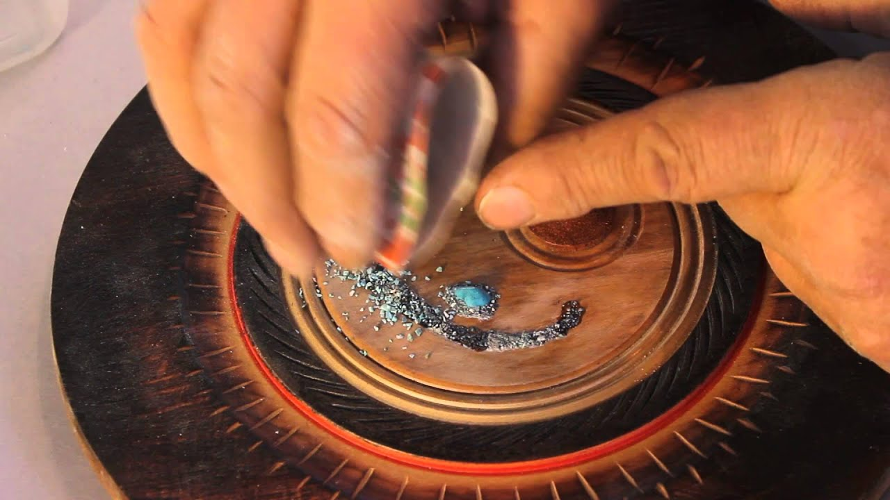 TURQUOISE Stone INLAY for Wood Projects - YouTube