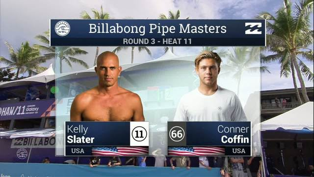 2ba7390086 Kelly Slater vs Conner Coffin- Round Three