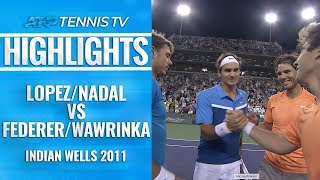 When Federer & Nadal faced off in doubles! | Indian Wells 2011 Semi-Final
