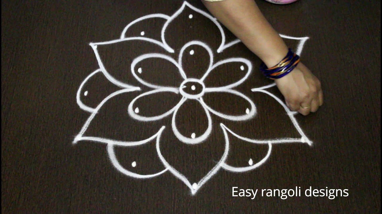 Latest simple friday kolam designs with dots easy for Dots design apartment 8