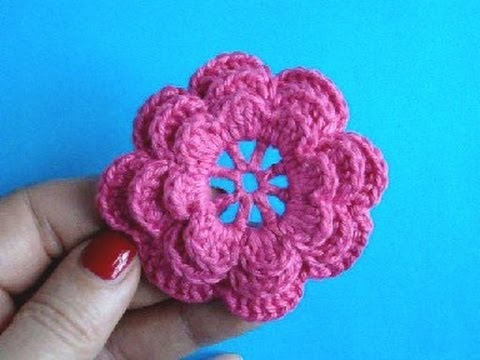 Crochet Flowers Patterns Youtube : ... ?????????? ?????? Crochet flower pattern - YouTube